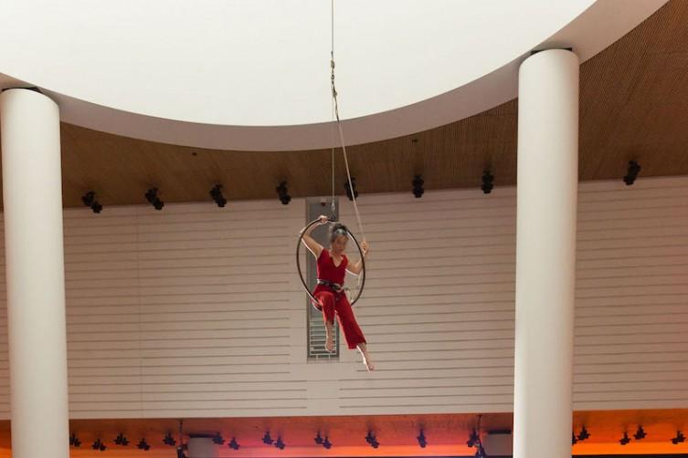 A trapeze artist