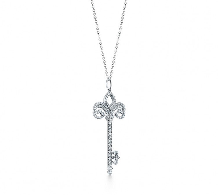 Tiffany & Co. Keys Fleur de Lis pendant