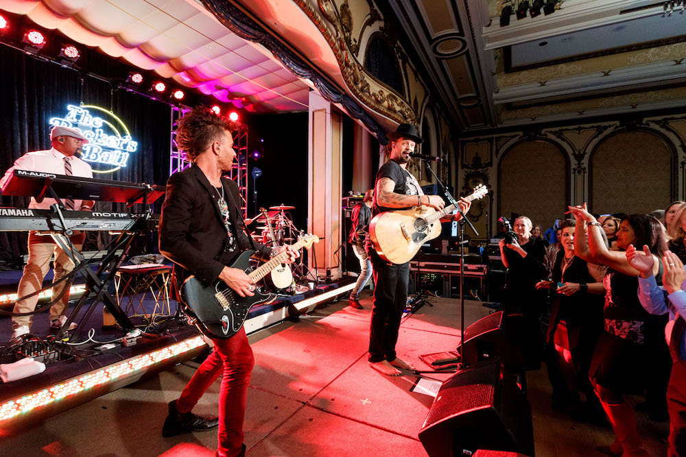Michael Franti and Spearhead perform at the Rocker's Ball
