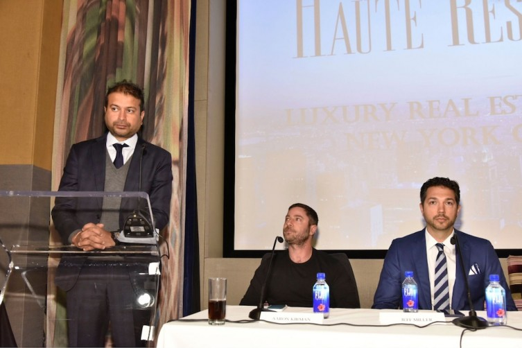 Haute Living CEO Kamal Hotchandani, Aaron Kirman, Jeff Miller