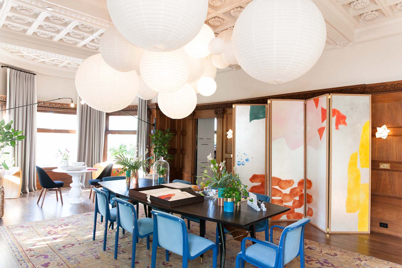 The dining room at the 2017 Decorator Showcase