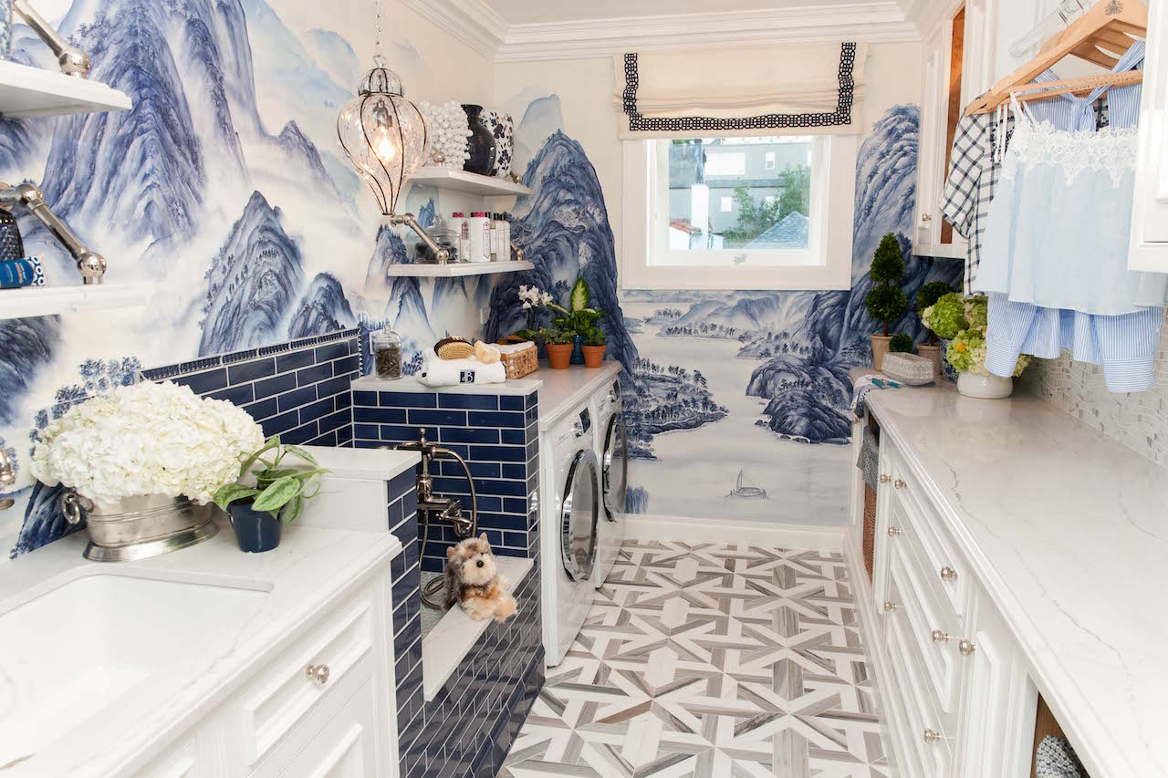 Last year, Bandman's gorgeous laundry room featured custom de Gournay wallpaper