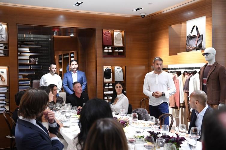 Kamal Hotchandani making a speech before dinner