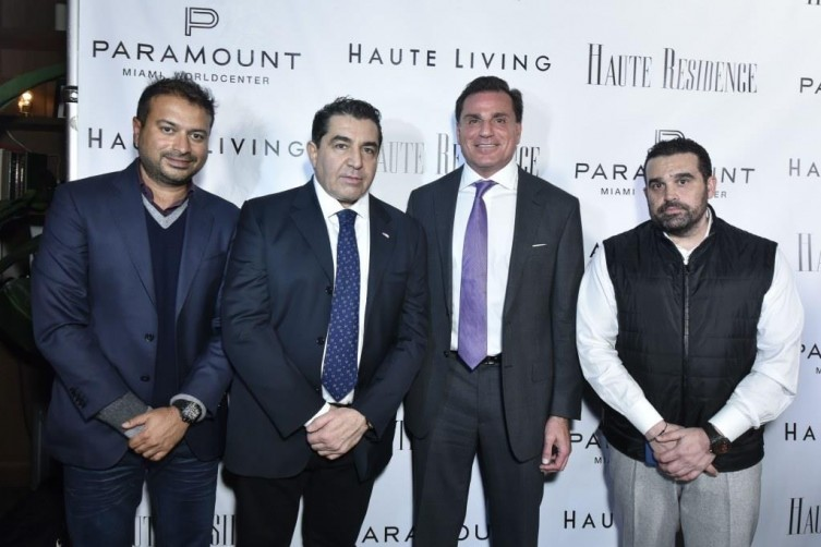 Kamal Hotchandani, Paolo Zampolli, Dan Kodsi and Seth Semilof / Photo by Eugene Gologursky/Getty Images for Haute Living