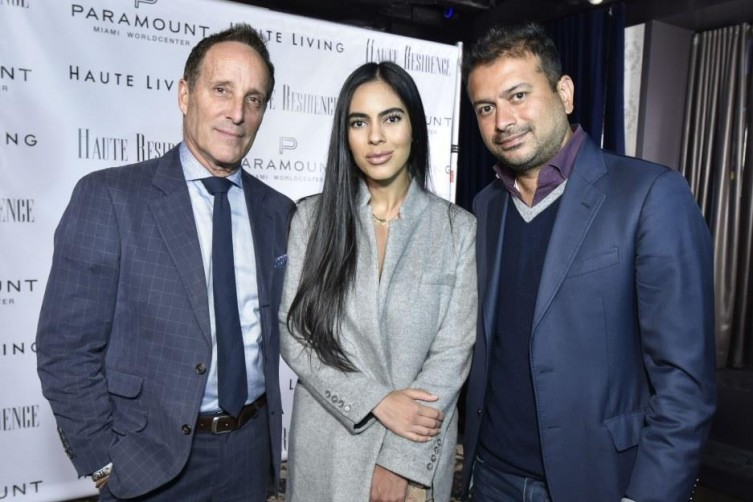 Richard Steinberg, Deyvanshi Masrani and Kamal Hotchandani / Photo by Eugene Gologursky/Getty Images for Haute Living