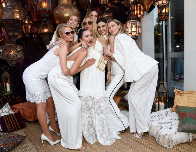 Paris Hilton, Erin Foster, Olivia Culpo, Rachel Zoe, Whitney Port, Victoria Justice and Sara Foster attend Rachel Zoe's 4th Annual ZOEasis at Parker Palm Springs on April 13
