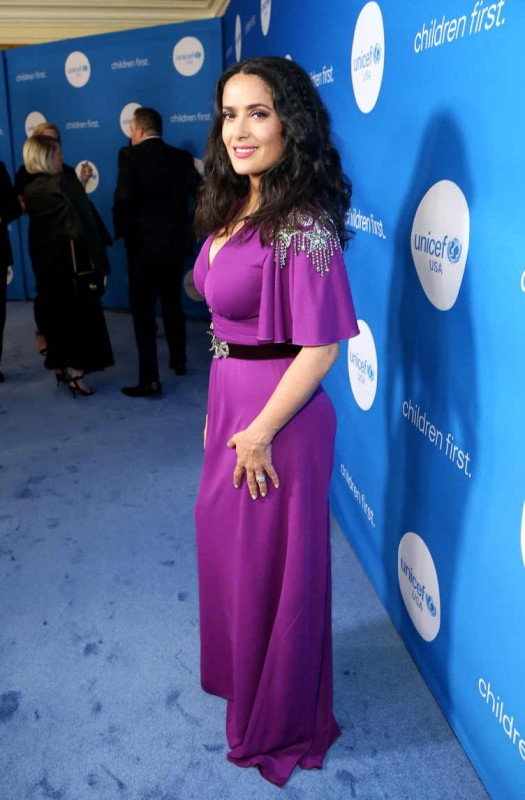 Salma Hayek Pinault attends the Seventh Biennial UNICEF Ball