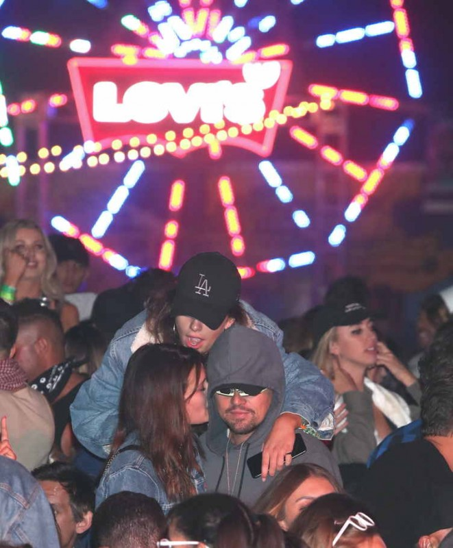 Leonardo DiCaprio attends The Levi's Brand presented NEON CARNIVAL on April 14