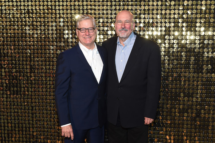 Honorees Donald Moffett and Robert Gober attend the Eighth Annual Brooklyn Artists Ball at The Brooklyn Museum on April 17, 2018 in New York City.