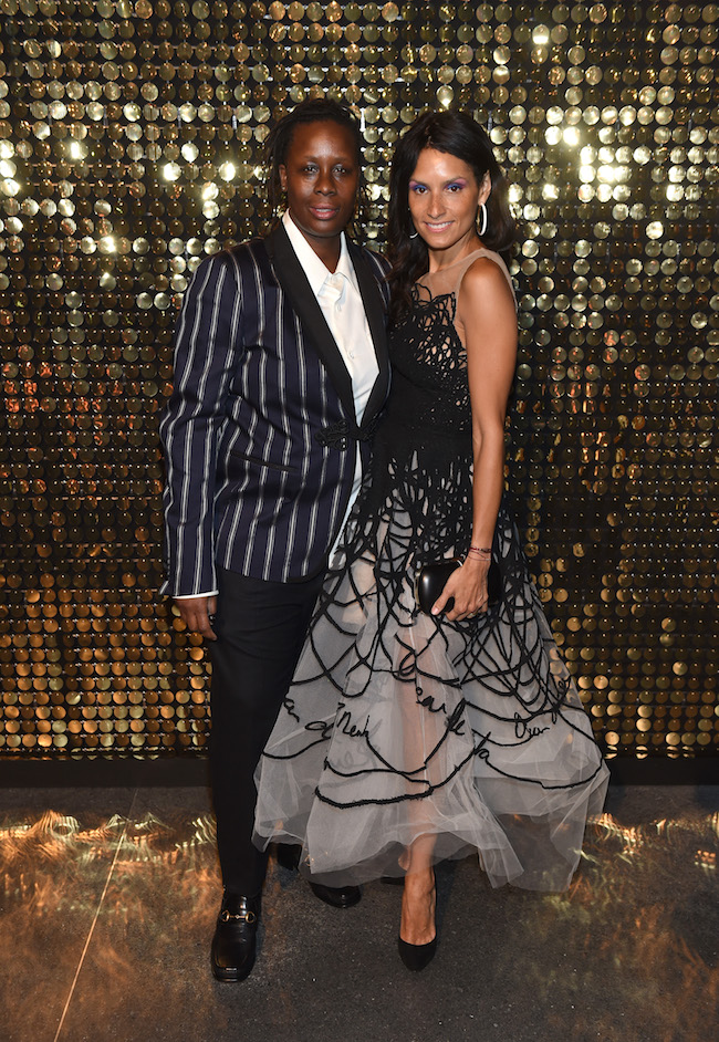 Artist Mickalene Thomas and Raquel Chevremont attend the Eighth Annual Brooklyn Artists Ball at The Brooklyn Museum on April 17, 2018 in New York City.