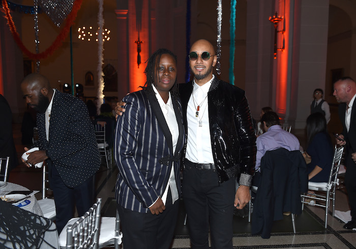 "Artist Mickalene Thomas and Recording artist Kasseem ""Swizz Beatz"" Dean attend the Eighth Annual Brooklyn Artists Ball at The Brooklyn Museum on April 17, 2018 in New York City."