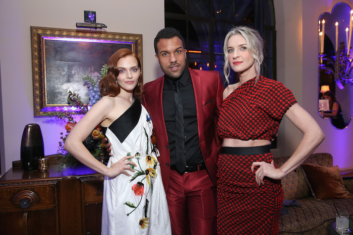 "Madeline Brewer, O-T Fagbenle, and Ever Carradine attend the premiere of Hulu's ""The Handmaid's Tale"" Season 2 at Chateau Marmont on April 19, 2018 in Los Angeles, California. (Photo by Phillip Faraone/Getty Images for Hulu)"
