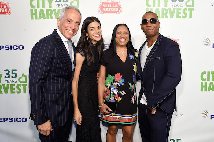 Geoffrey Zakarian, Margaret Zakarian, Aisha Atkins and Ja Rule attend City Harvest's 35th Anniversary Gala at Cipriani 42nd Street on April 24, 2018 in New York City.
