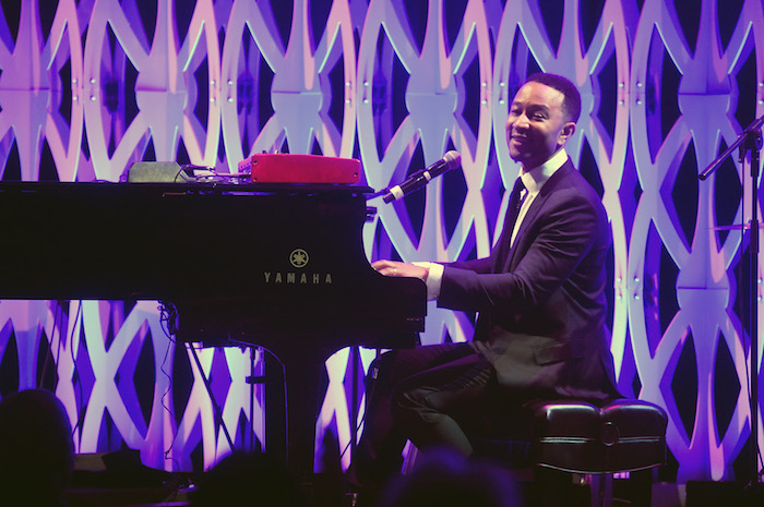 John Legend performs onstage during City Harvest's 35th Anniversary Gala at Cipriani 42nd Street on April 24, 2018 in New York City.