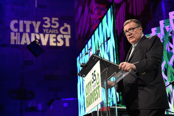 Bill Mills speaks onstage during City Harvest's 35th Anniversary Gala at Cipriani 42nd Street on April 24, 2018 in New York City.