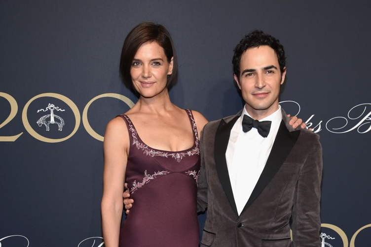Katie Holmes and Zac Posen attend the Brooks Brothers Bicentennial Celebration At Jazz At Lincoln Center