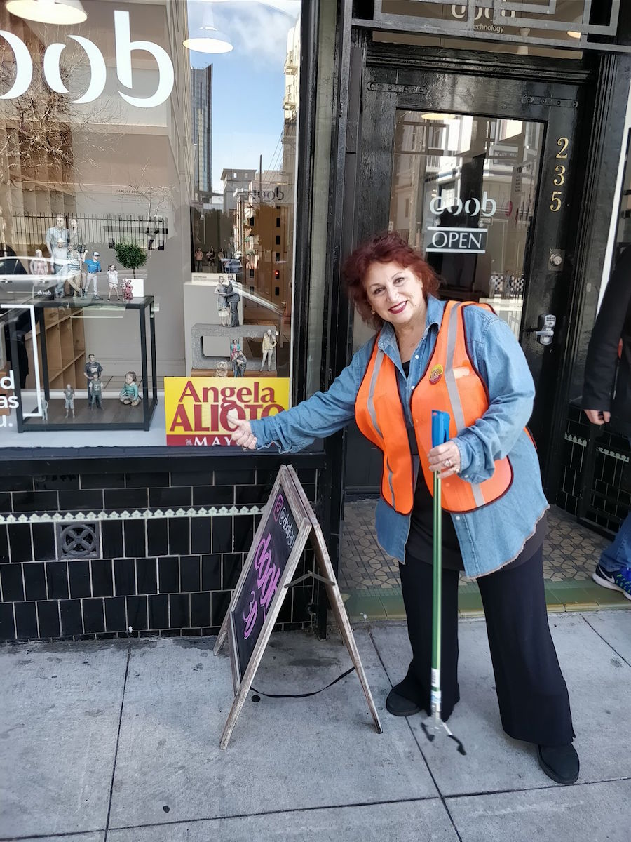 As part of her campaign, Alioto has spent mornings cleaning the streets of San Francisco