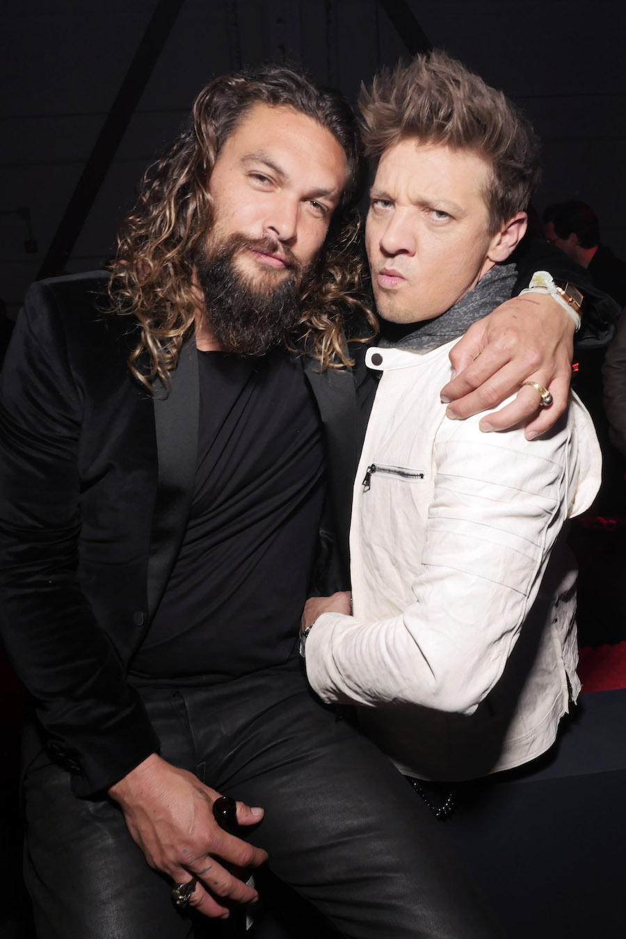 Jason Momoa and Jeremy Renner