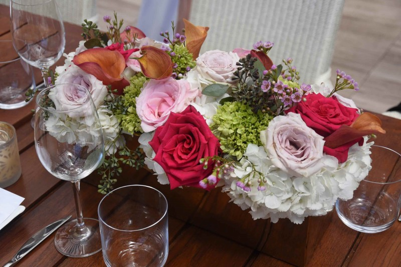 Floral displays by Alore Events Firm