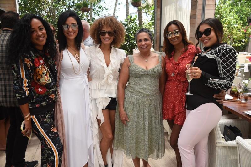 Nadine Valme, Violet Camacho, Marita Stavrou, Cathy Hughes, guest, Chanel Valme