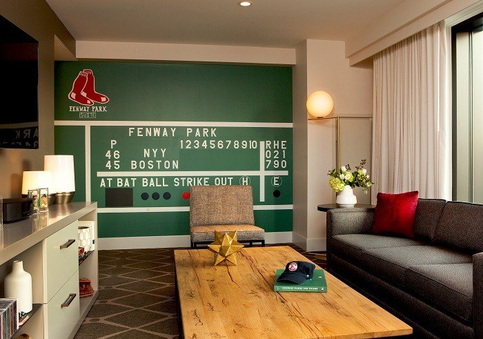 Fenway Park Suite Table & Green Monster