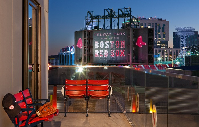 Fenway Park Suite Terrace at Night
