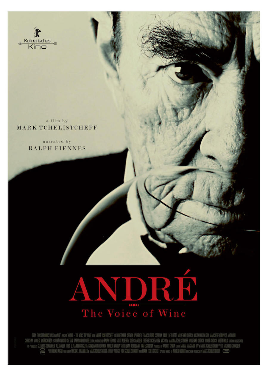 A film poster for André - The Voice of Wine