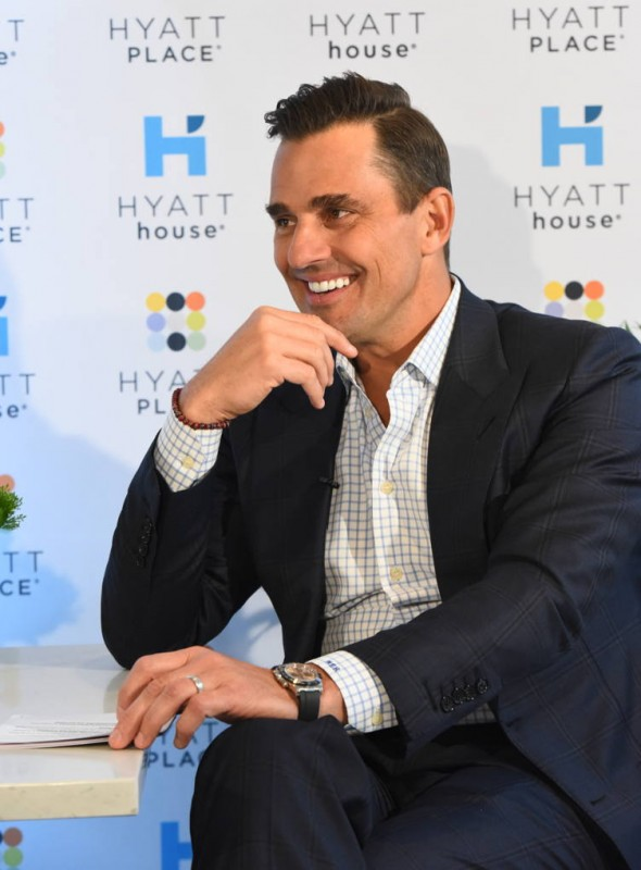 Bill Rancic reveals the rules of being a road warrior at the Hyatt Place and Hyatt House Business Traveler Survey event in New York
