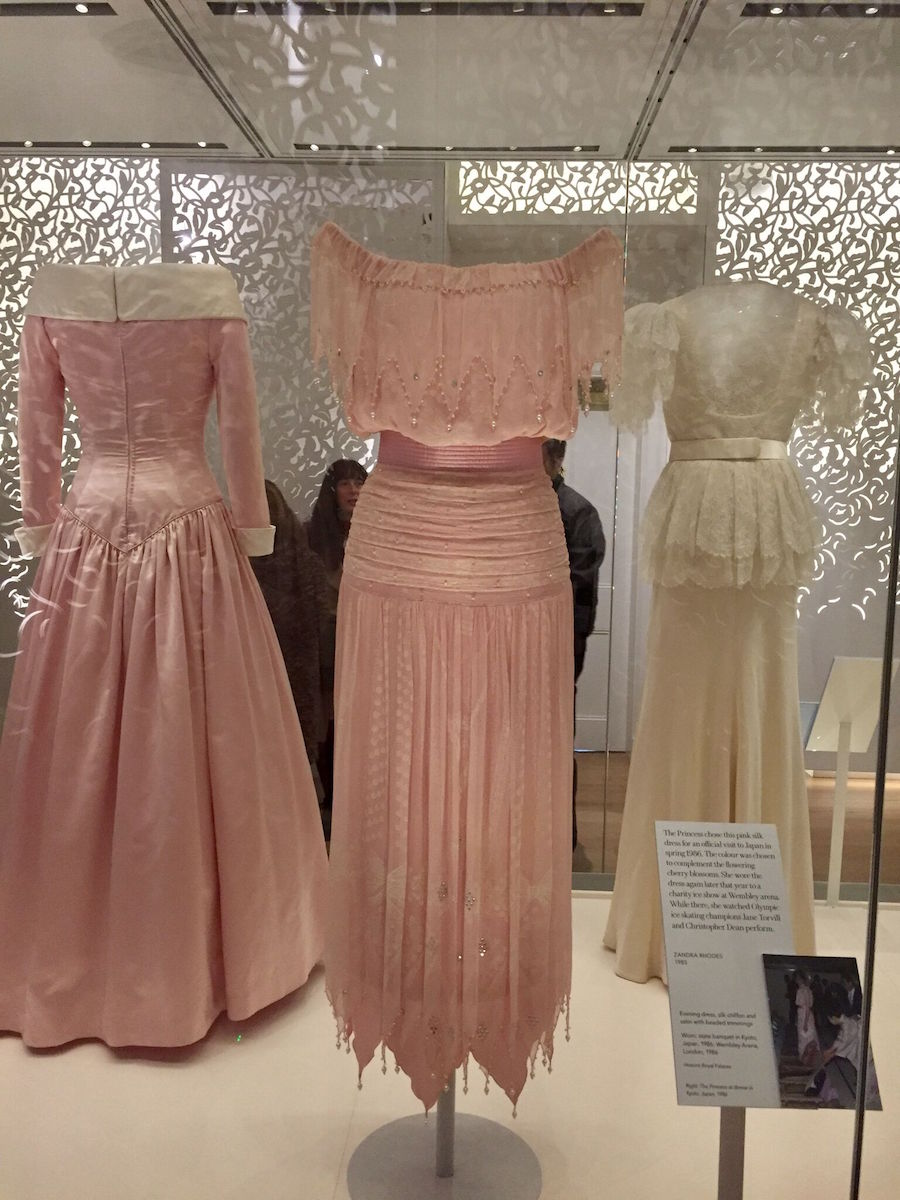 Princess Diana's dresses on exhibit