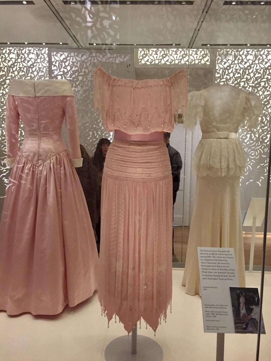 Princess Diana's dresses on exhibit