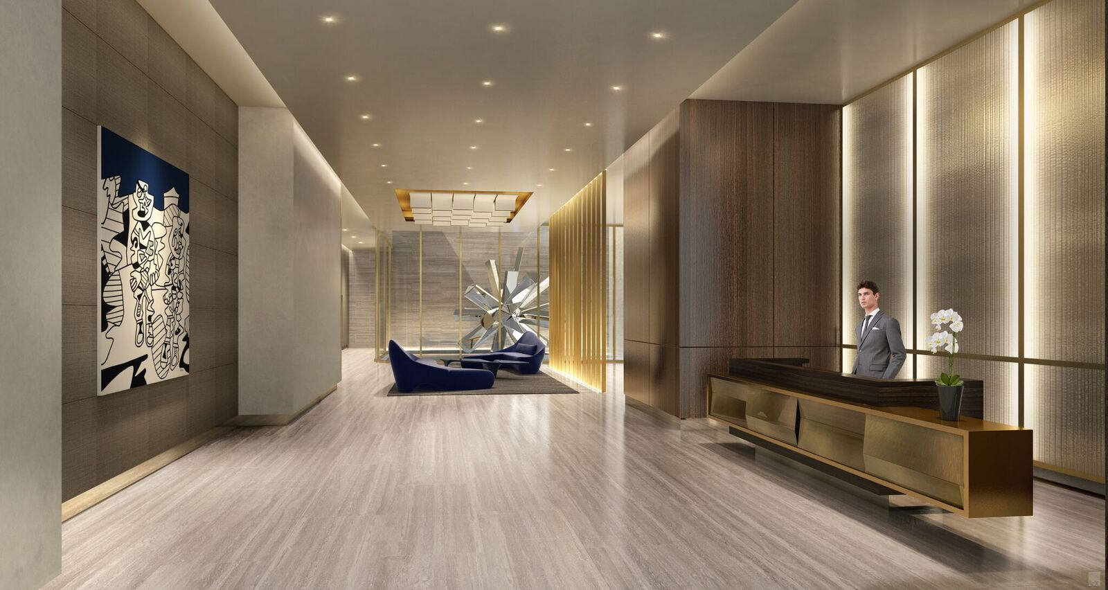 Oskar Lobby / Rendering credit: The Moinian Group