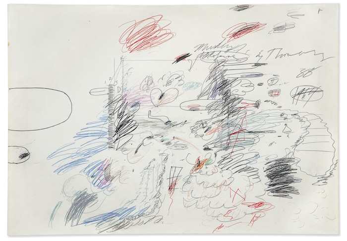 Lot 19B, Twombly, Untitled (Murder of Olofernes)