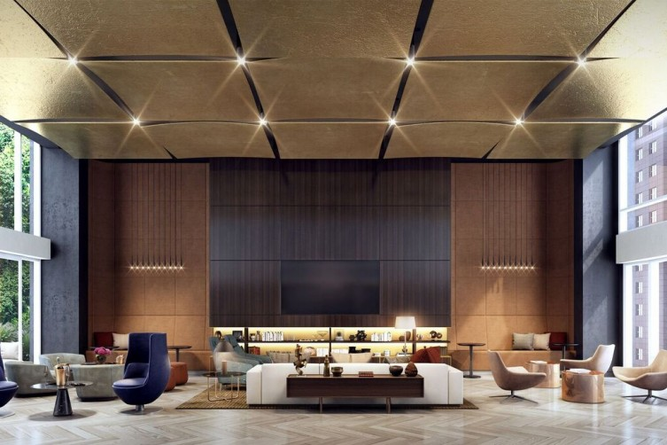 Oskar Lounge / Rendering credit: The Moinian Group