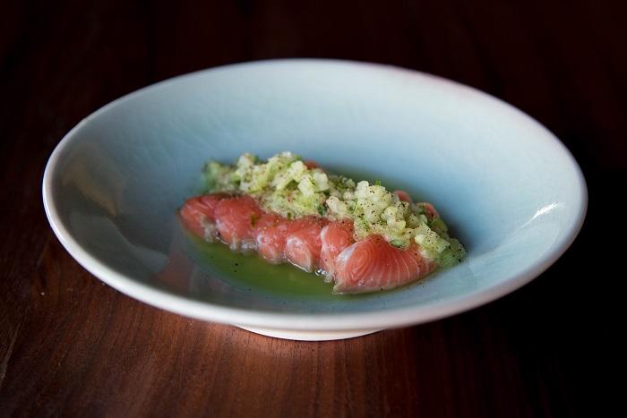 PAGU salmon sashimi