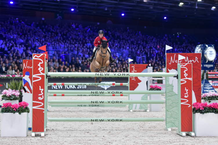 Chloe Reid competes at the Riders Masters Cup at the Longines Masters of Paris