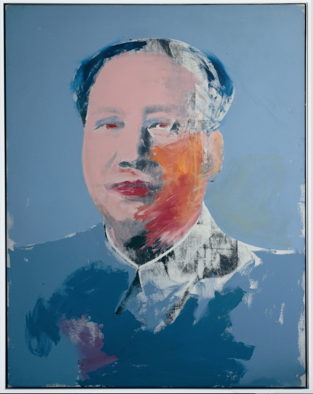 MAO. 1972. Acrylic and silkscreen ink on linen. Josep Suñol Collection, Barcelona © 2017 The Andy Warhol Foundation for the Visual Arts, Inc. / VEGAP