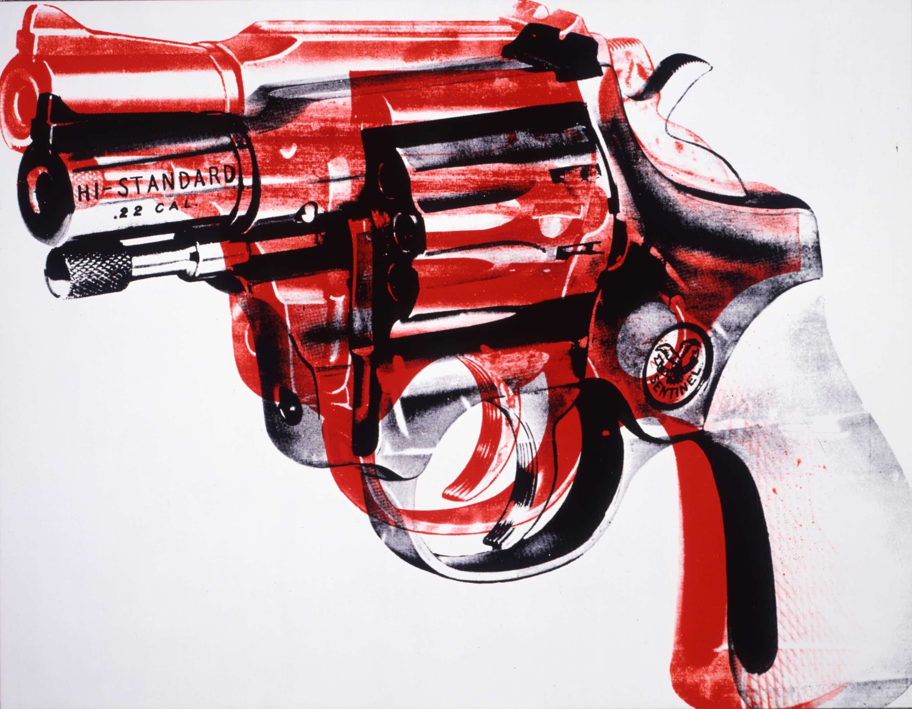 Revolver. 1981. Acrylic and silkscreen ink on linen. Collection of the Andy Warhol Museum, Pittsburgh © 2017 The Andy Warhol Foundation for the Visual Arts, Inc. / VEGAP