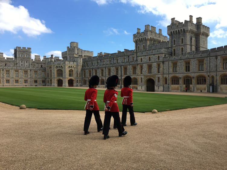 The exterior of Windsor Castle