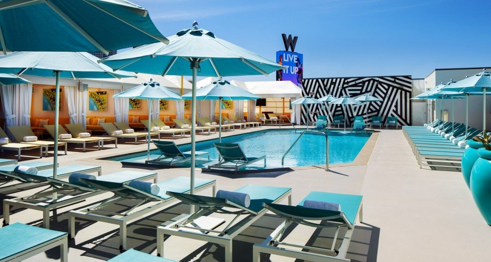 A Look Inside The Glamorous WET Deck Pool At The W Las Vegas