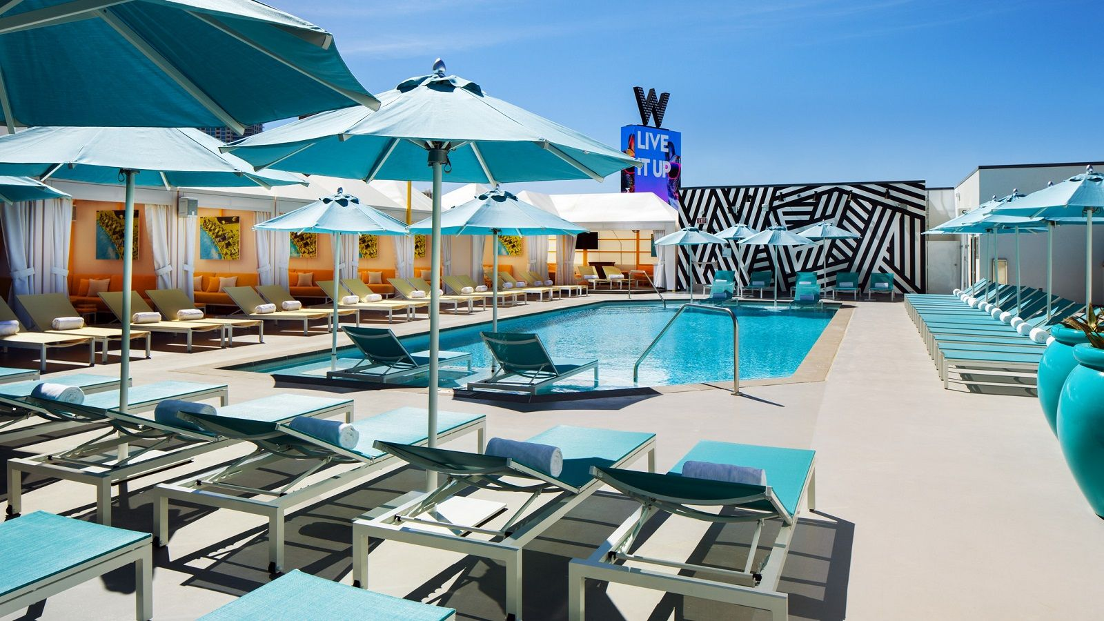 W Las Vegas WET Deck Pool Haute Living Las Vegas Tita Carra
