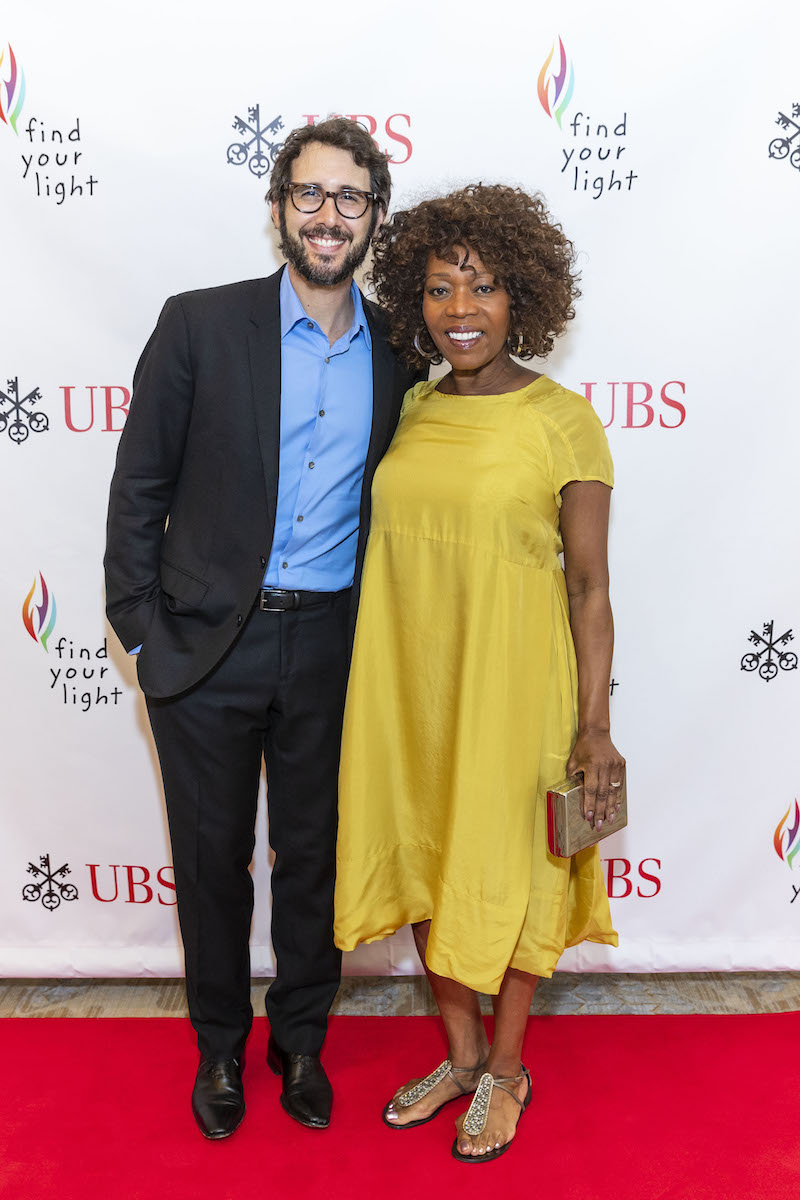 Josh Groban and Alfre Woodard