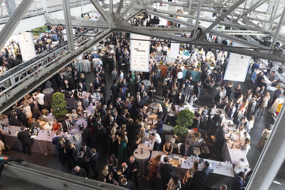 A bird's eye view of the reception
