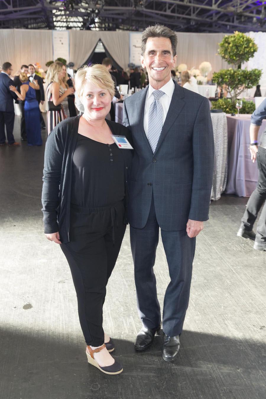 Kendra Weinisch and Mark Leno