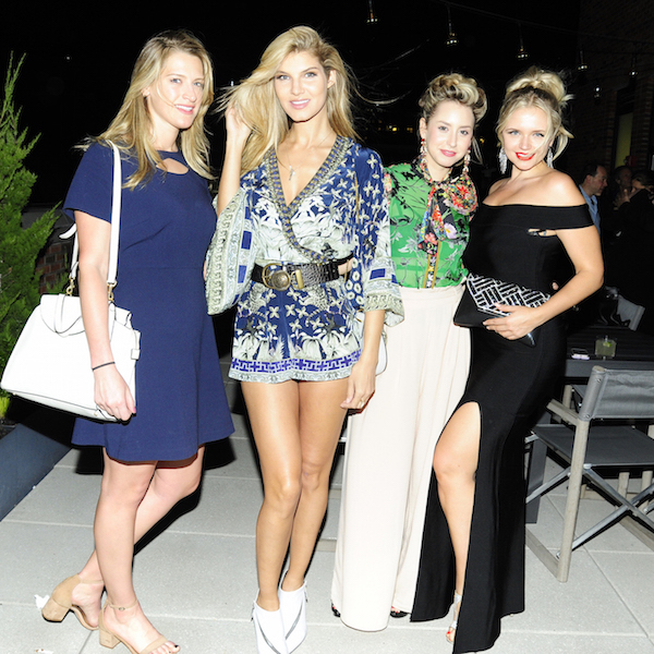 Elizabeth Aiello, Ashley Haas, Jazmin Grace Grimaldi, Veronika Dash at The Cinema Society's after party at Arlo Roof Top, NYC on May 2, 2018