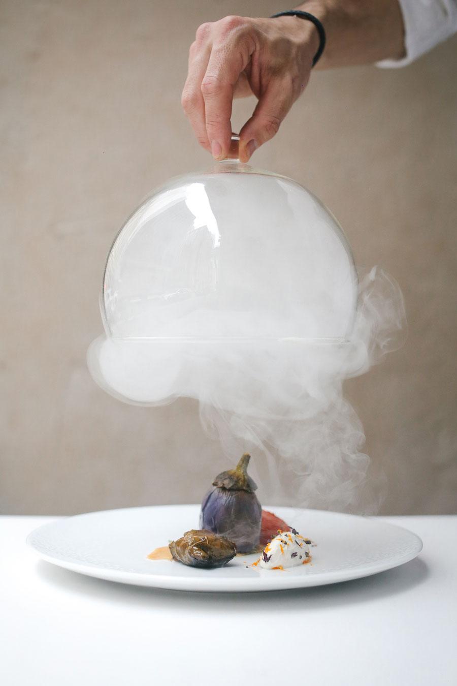 A smoky eggplant dish