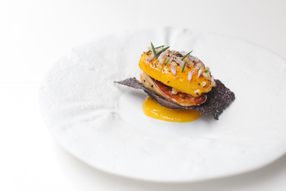 Mango and foie gras