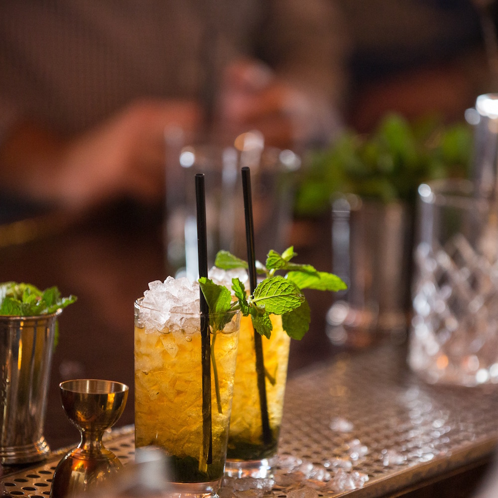 Mint juleps at Elixir