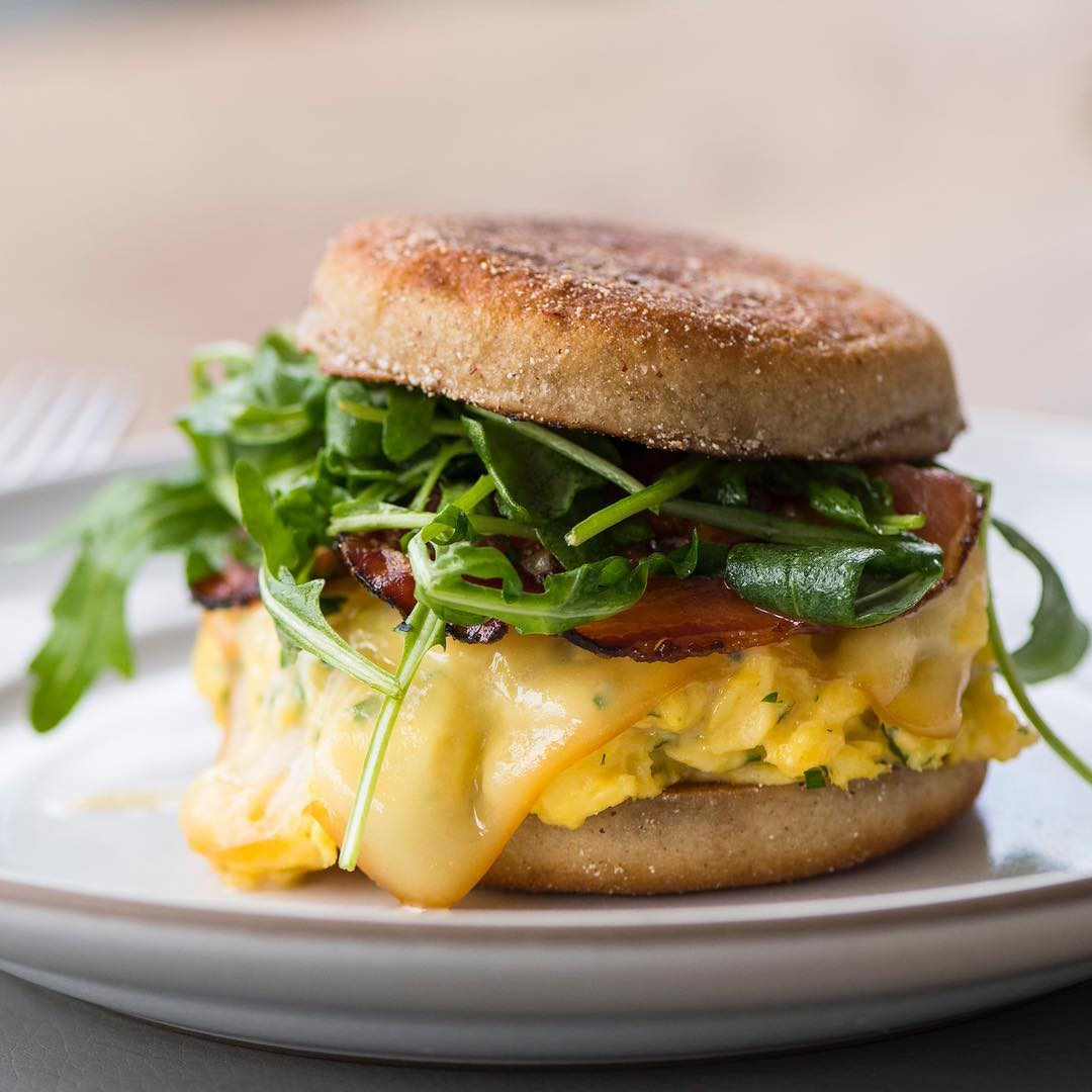 Acacia House's breakfast sandwich