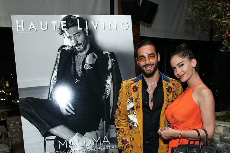 Maluma with girlfriend Natalia Barulich