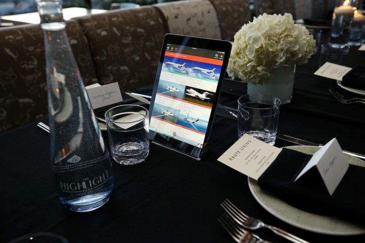 JetSmarter table setup